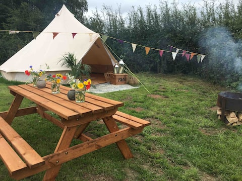 Pop up Glamping, Stay on a farm in a vineyard!