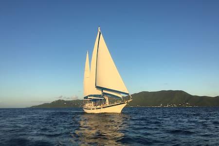 Sailing Ketch -  Sea Level - BnB - St John