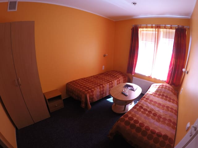 Twin room in hotel