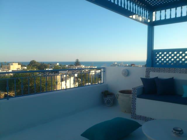 Maison avec terrasse vue sur mer - Hammamet - Ev
