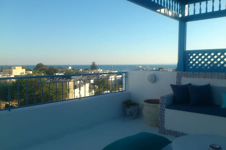 Maison avec terrasse vue sur mer - Hammamet