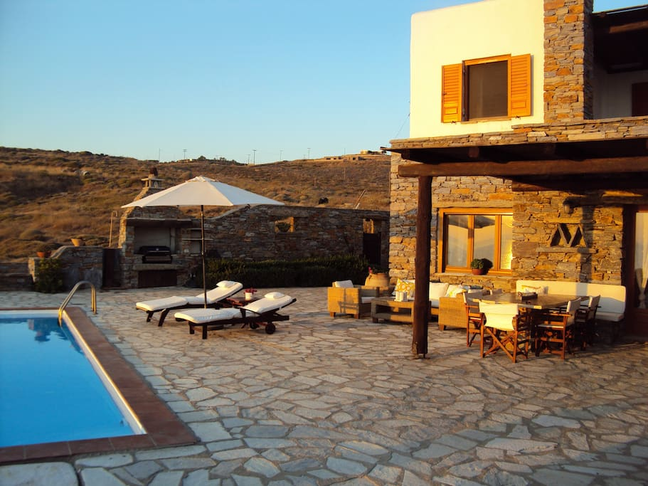 The House - with infinity pool on the left.