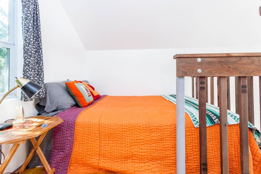 Lofted sleeping area
