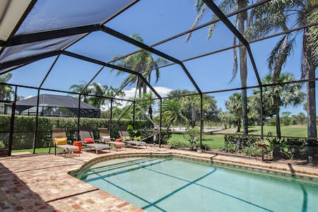 Golf course view with pool & grill! - Tequesta - Casa