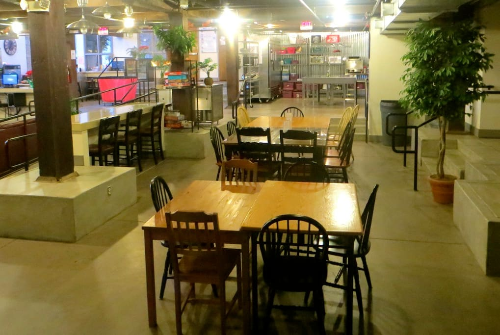 Our hostel has several spacious and relaxing common areas for you to get work done, relax, or make new friends.
