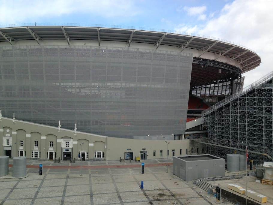 Вид из окна на Екатеринбург Арена