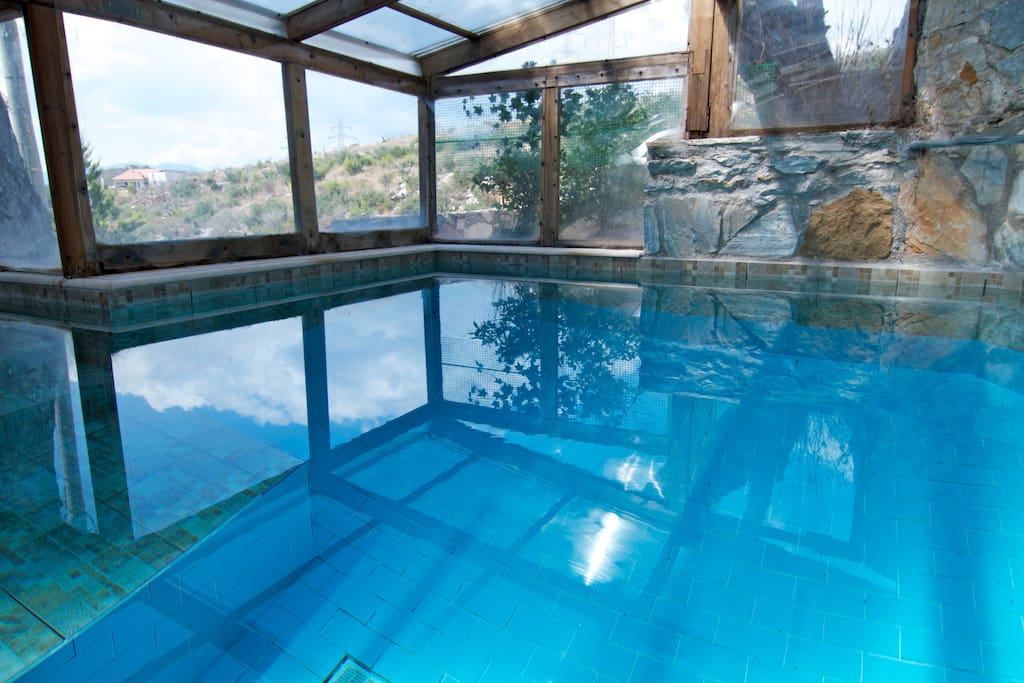 Heated indoor Wellness and Massage Pool