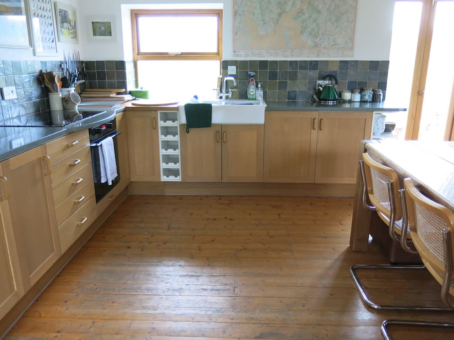 Kitchen - large space, well equipped with lovely views from window