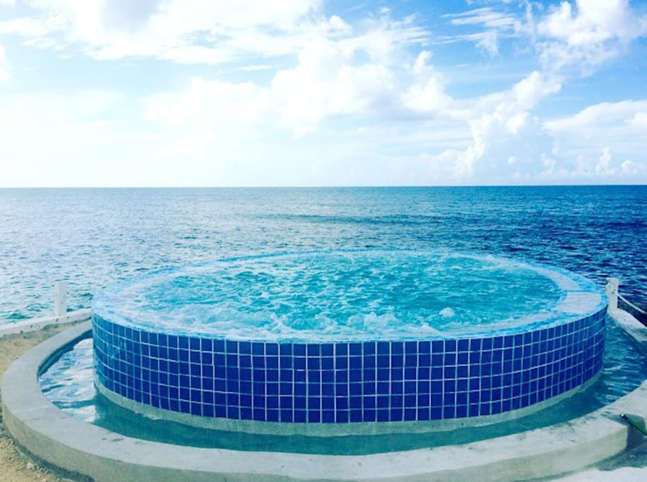 Feel free to turn on the bubbles in the infinity pools seats:)