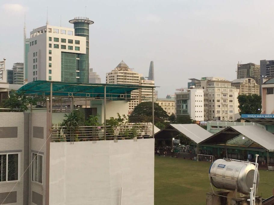 view from the top to Hoa Lu stadium and the zoo