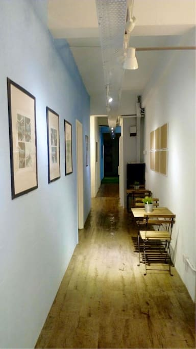 Corridor and laptop space