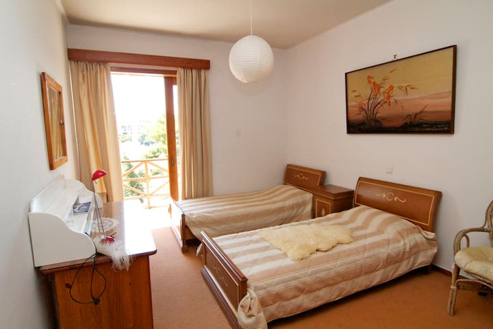 Twin bedroom in all comforts villa - Nea Penteli - Bed & Breakfast
