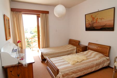 Twin bedroom in all comforts villa - Nea Penteli