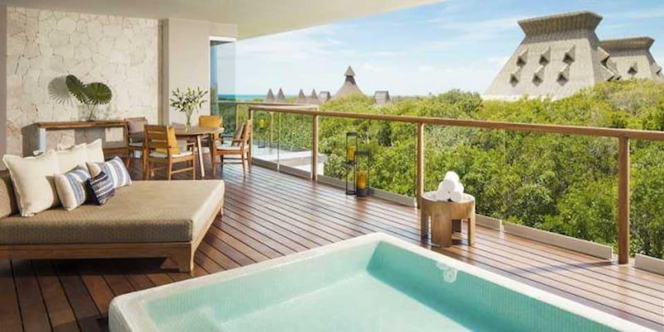 Paradise,luxury apartment at the Caribbean Sea