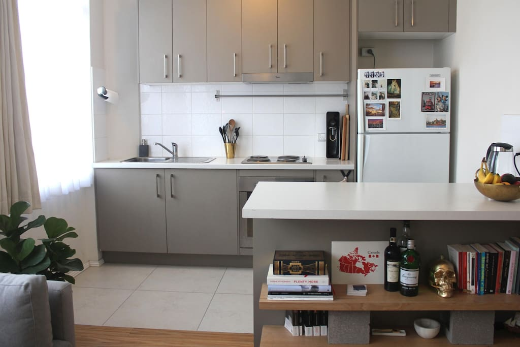 Our open plan kitchen is at your disposal