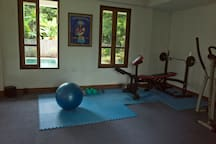 You are welcome to use our little work out area.