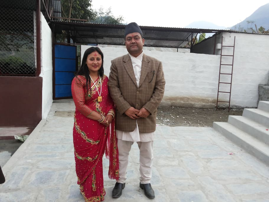 Me (Narayan) and my wife (Sita).