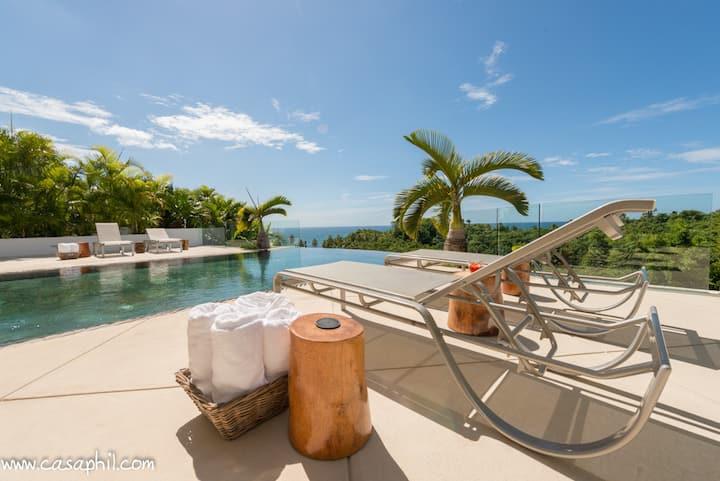 Amazing sea view luxury modern, fully staffed