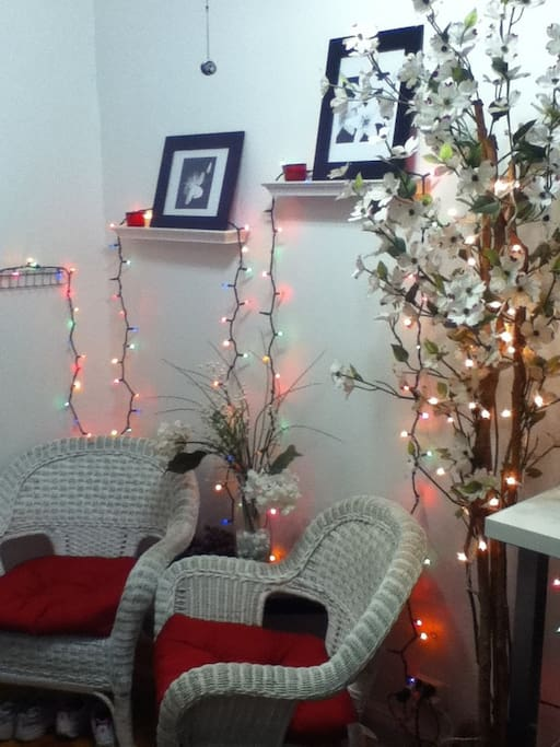 holiday spirit reception area
