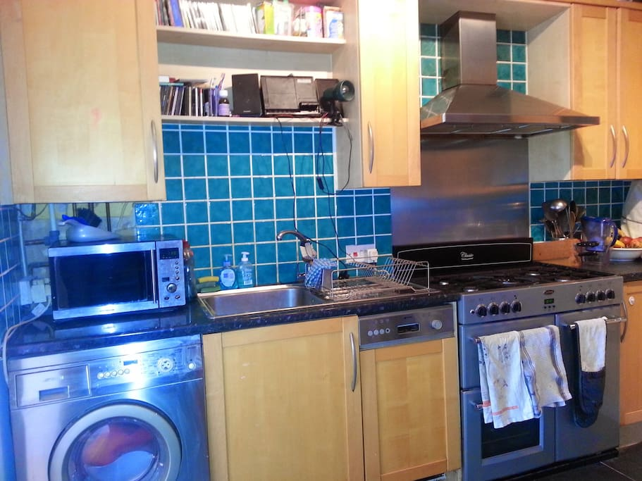 Fantastic, good-sized, newly decorated kitchen with brand new range electric oven with gas hob, fridge-freezer, washer-dryer, microwave and dishwasher