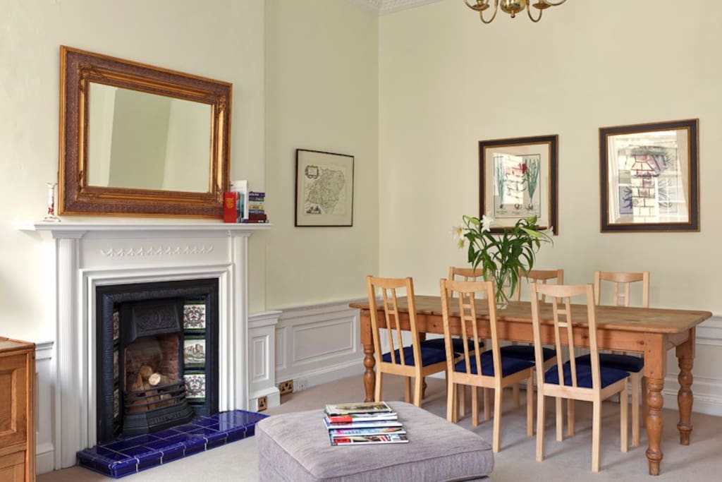 Sitting Room with dining table to seat 8 people.