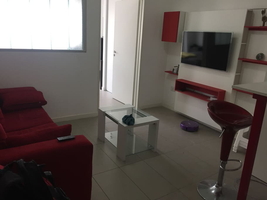 Living room, TV & sofa.