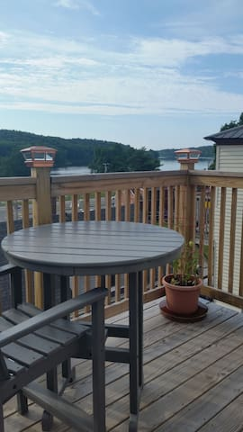 Balcony with riverview