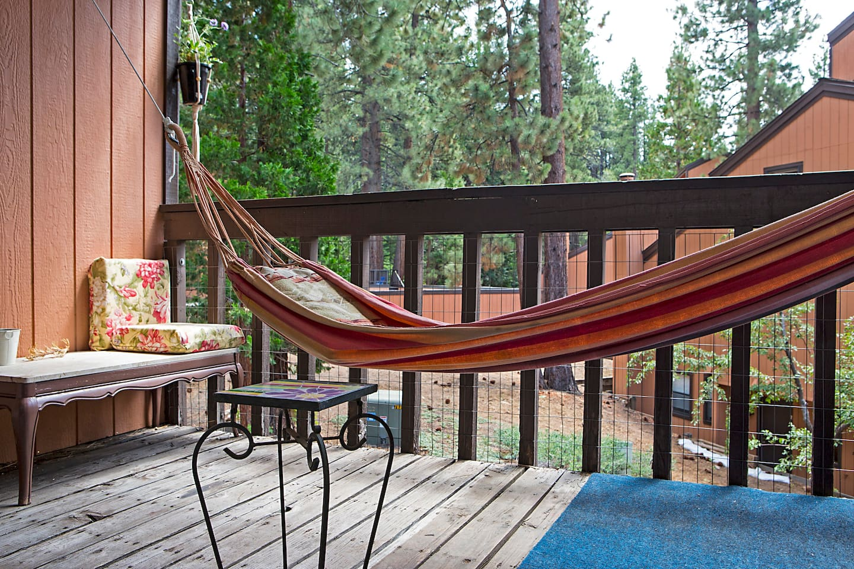 Always a cool breeze in the hammock.