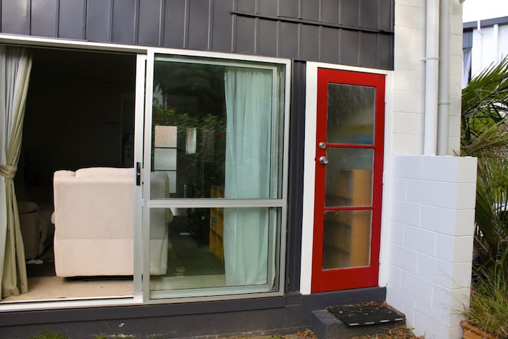 Back of Flat - The back door.
