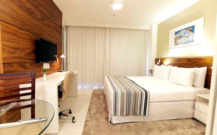 ⭐40% OFF - FLAT belíssimo em Hotel*GARAGEM*WIFI