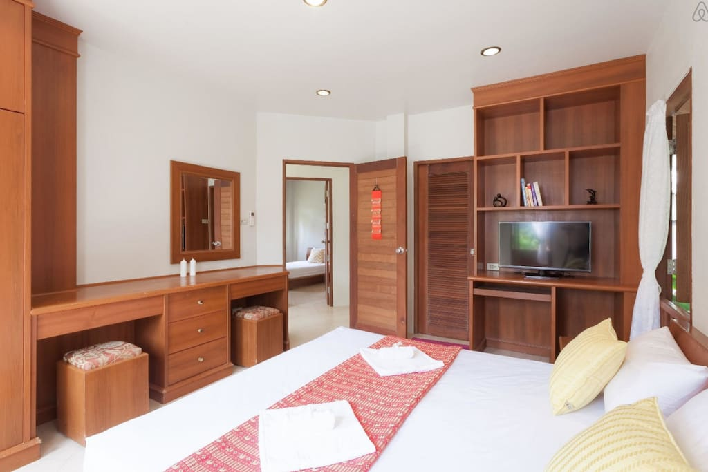 large bedroom with air conditioning side 1