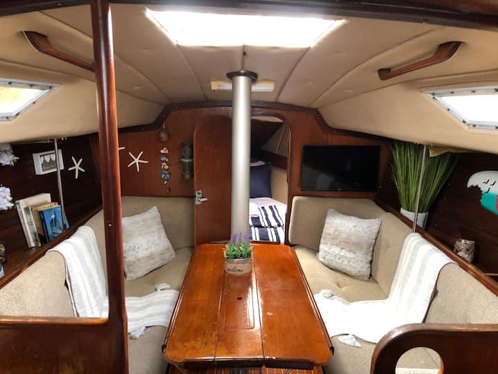 Sailboat under the stars