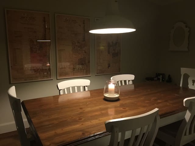 Separate dining room -  can seat up to 8