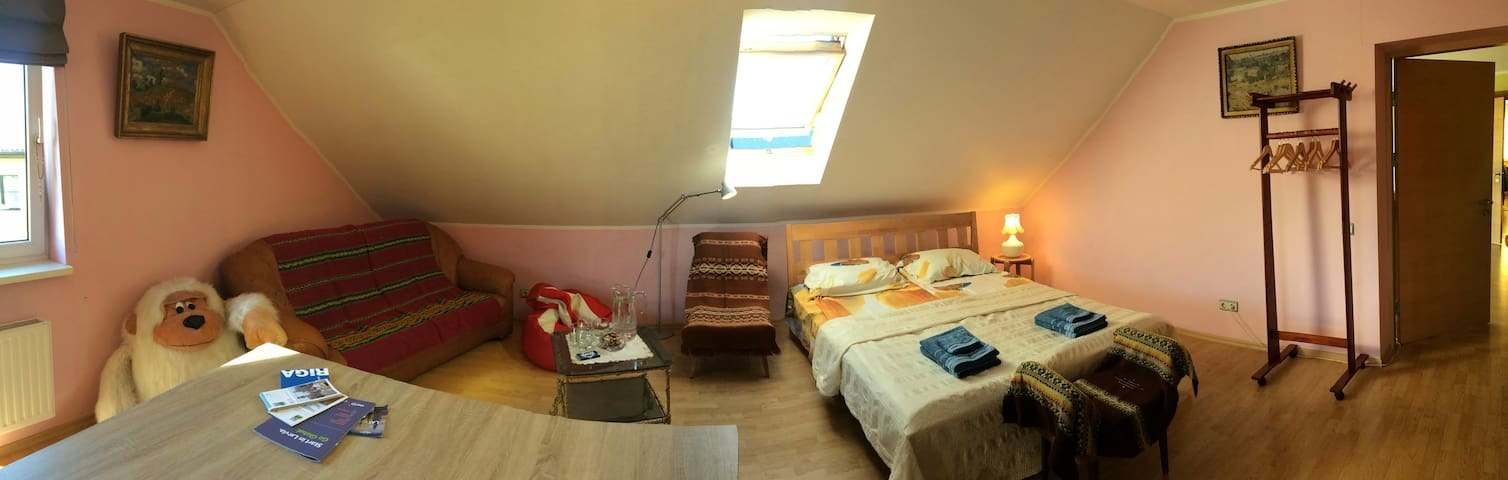 1st room with queen bed