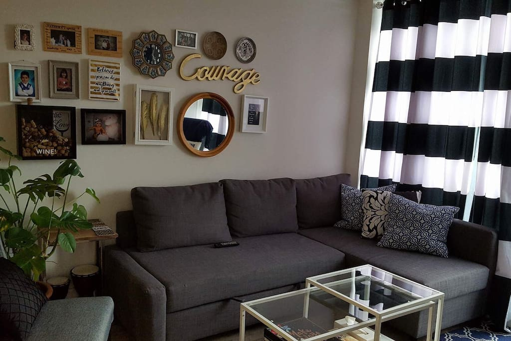 Living room w pull out couch