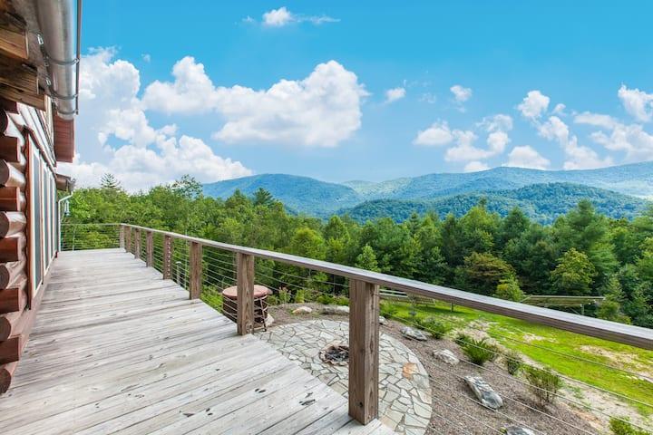 Mountain-View Cabin Retreat w/ Hot Tub & Firepit