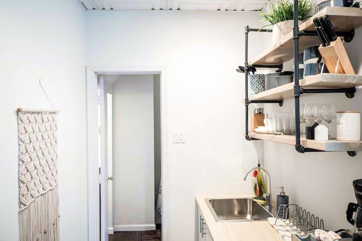Private Cozy Shiplap Studio Apartment!