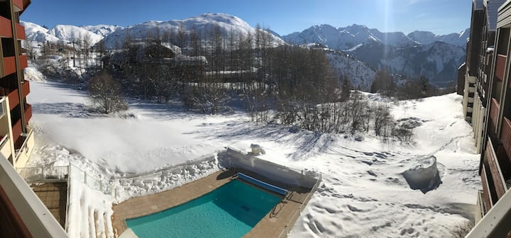 Foot of slopes Cocoon in 4* Resid (pool / sauna)