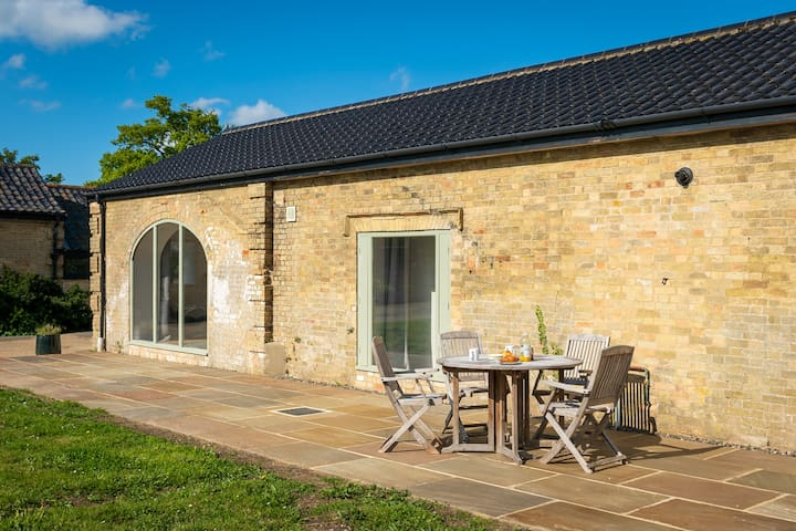 The patio area outside Long Range 1 is perfect for dining, nature-watching or relaxing
