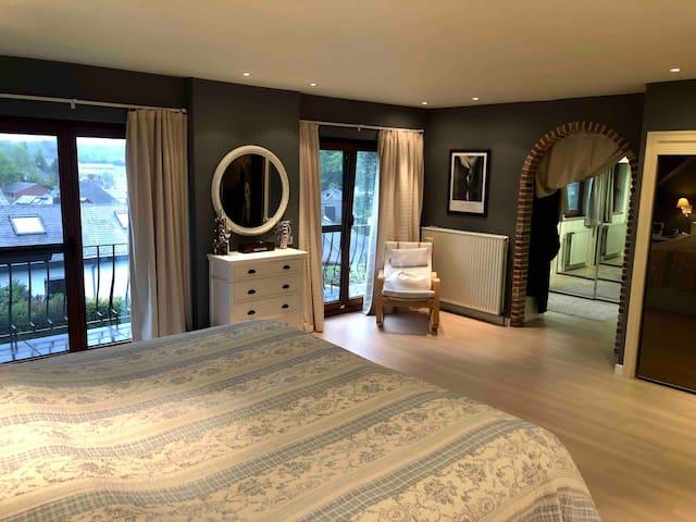 Master bedroom with bathroom ensuite