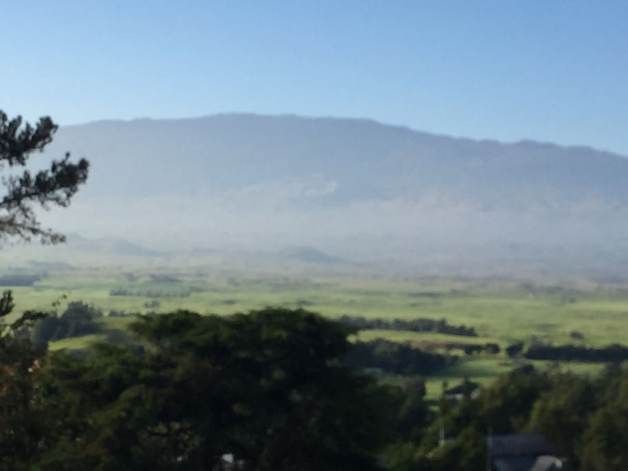 Mauna Kea from the deck...