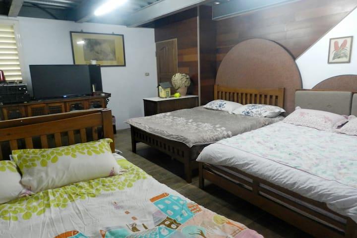 埔里秘密行館櫻花步道房(8人) - Puli Township - Appartement