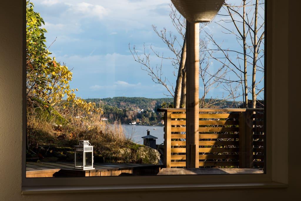 Usjenert overbygget terrasse