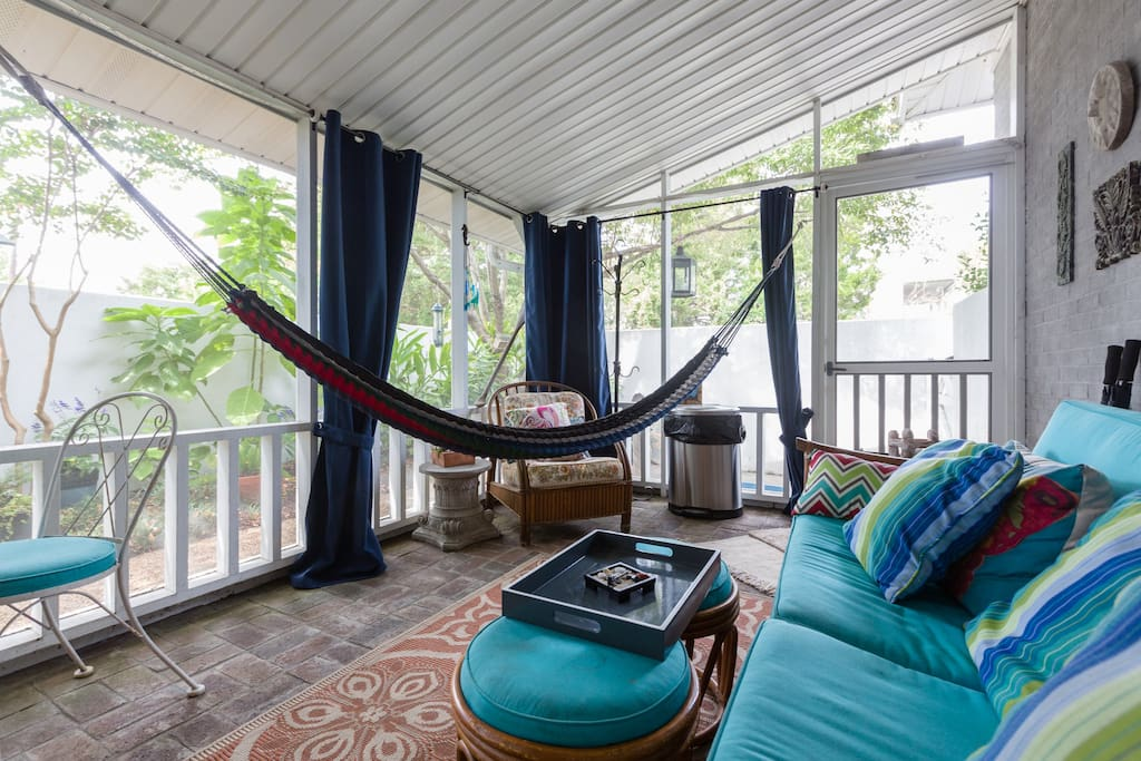 Honduras makes these incredibly different and comfortable hammocks, as you nap or read, relax, within privacy curtains