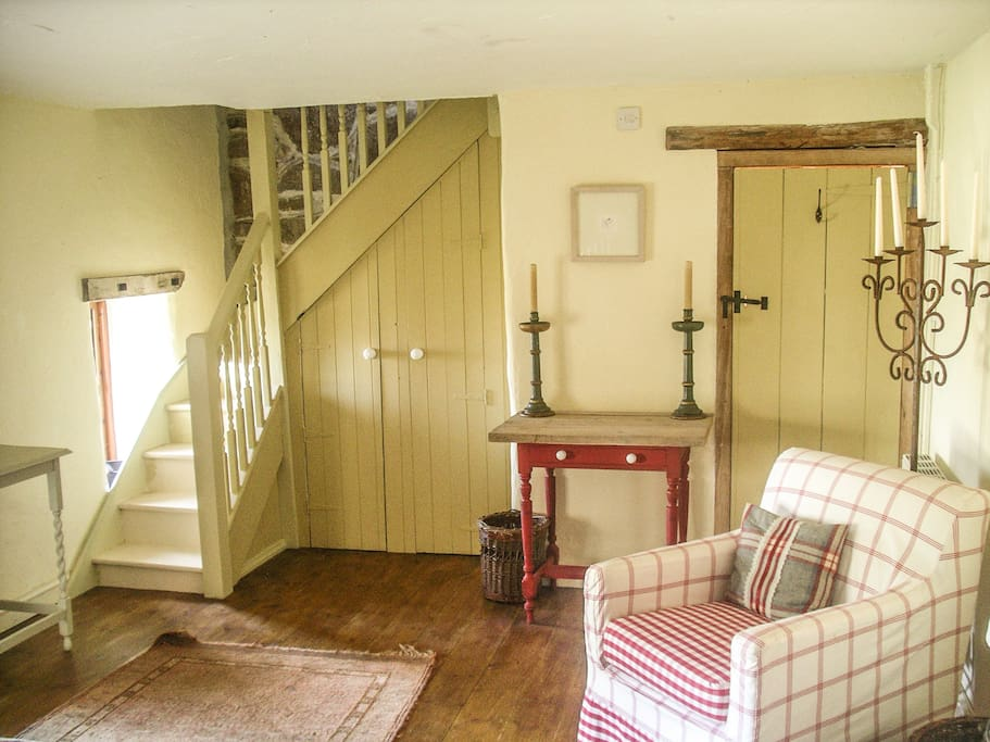 Large double room converted from a Cornish cow byre with ensuite lavatory, Morvah, Cornwall