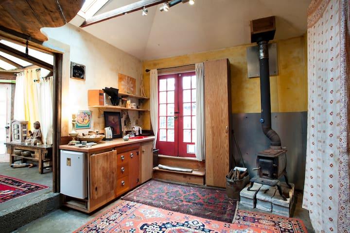 Eclectic cottage & bath house/SE Portland