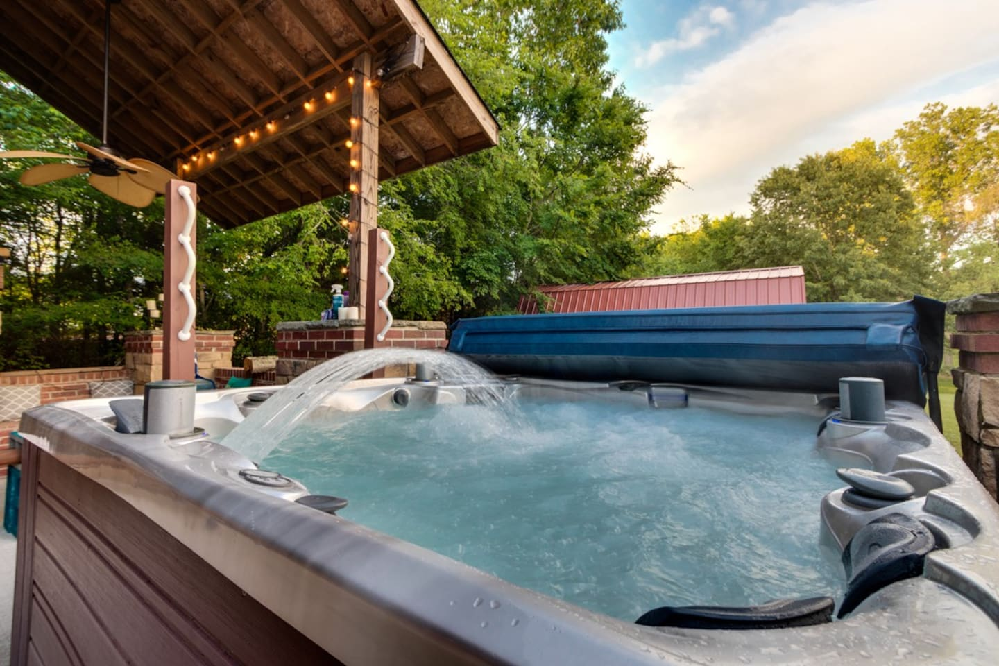 Soak your cares away in this 6 person hot tub.  The jets on this are insane!
