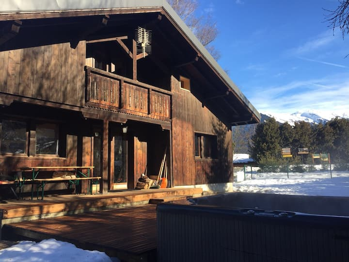 Chalet with HotTub Morillon Ski / Summer/ Bike