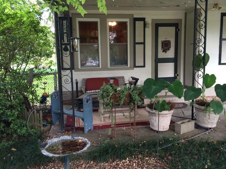 Your private porch...