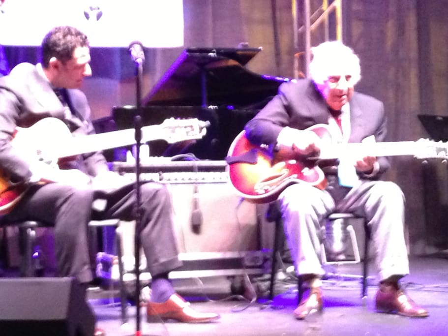 We love jazz.  Here are our friends John and Bucky Pizzarelli.